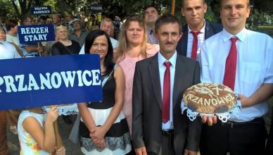 Mieszkańcy Przanowic podczas gminnych dożynek (fot. Facebook: Sołectwo Przanowice W Centrum)
