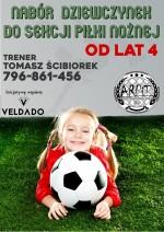 ARPiT ogłosił nabór dziewczynek do sekcji piłki nożnej