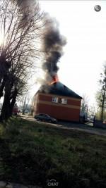 Pożar w budynku ZUK i KPGK przy ul. Mickiewicza