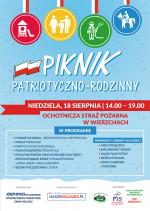 Piknik patriotyczno – rodzinny w Wierzchach [LISTA ATRAKCJI]