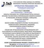 Oferta pracy: operator frezarek CNC