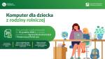 ARiMR: Dofinansowanie zakupu komputera dla dziecka z rodziny rolniczej
